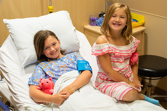 We provide free stuffed animals to all kids undergoing surgery at Ridges Surgery Center.